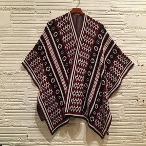 Serape Shawl Poncho • One Size